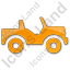 Off Road Vehicle Plain Orange Icon, PNG/ICO, 64x64