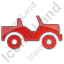 Off Road Vehicle Plain Red Icon, PNG/ICO, 64x64