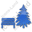 Park Coniferous Tree Plain Blue Icon