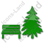 Park Coniferous Tree Plain Green Icon