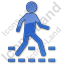 Pedestrian Crossing Plain Blue Icon