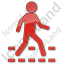 Pedestrian Crossing Plain Red Icon