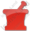 Pharmacy Mortar And Pestle Plain Red Icon
