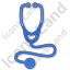 Physician Stethoscope Plain Blue Icon