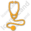 Physician Stethoscope Plain Orange Icon