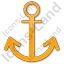 Port Anchor Plain Orange Icon