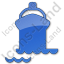 Port Ship Plain Blue Icon
