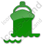 Port Ship Plain Green Icon, PNG/ICO, 64x64