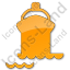 Port Ship Plain Orange Icon