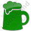 Pub Plain Green Icon, PNG/ICO, 64x64