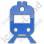Railway Station Plain Blue Icon, PNG/ICO, 64x64