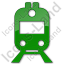 Railway Station Plain Green Icon