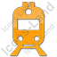 Railway Station Plain Orange Icon