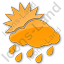 Rain Occasional Plain Orange Icon, PNG/ICO, 64x64
