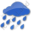 Rain Plain Blue Icon, PNG/ICO, 64x64