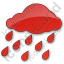 Rain Plain Red Icon, PNG/ICO, 64x64