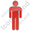 Restroom Men Plain Red Icon, PNG/ICO, 64x64