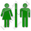 Restroom Women Man Plain Green Icon