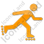 Roller Skating Plain Orange Icon