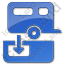 Sanitary Disposal Station Plain Blue Icon