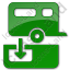 Sanitary Disposal Station Plain Green Icon