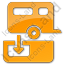 Sanitary Disposal Station Plain Orange Icon
