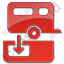 Sanitary Disposal Station Plain Red Icon