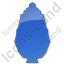 Shrub Plain Blue Icon