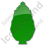 Shrub Plain Green Icon