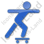 Skateboarding Plain Blue Icon
