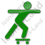 Skateboarding Plain Green Icon