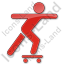 Skateboarding Plain Red Icon
