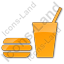 Snack Bar Plain Orange Icon