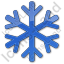 Snow Plain Blue Icon, PNG/ICO, 64x64