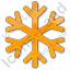 Snow Plain Orange Icon