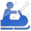 Snowmobiling Plain Blue Icon