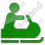 Snowmobiling Plain Green Icon