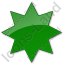 Star Plain Green Icon
