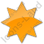Star Plain Orange Icon