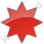Star Plain Red Icon, PNG/ICO, 64x64