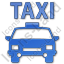 Taxi Plain Blue Icon