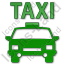 Taxi Plain Green Icon