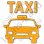 Taxi Plain Orange Icon, PNG/ICO, 64x64
