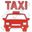 Taxi Plain Red Icon