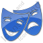 Theater Plain Blue Icon