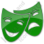 Theater Plain Green Icon, PNG/ICO, 64x64
