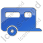 Trailer Plain Blue Icon, PNG/ICO, 64x64