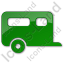 Trailer Plain Green Icon, PNG/ICO, 64x64