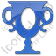 Trophy Plain Blue Icon