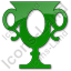 Trophy Plain Green Icon